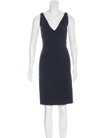 Narciso Rodriguez Virgin Wool Sleeveless Dress None