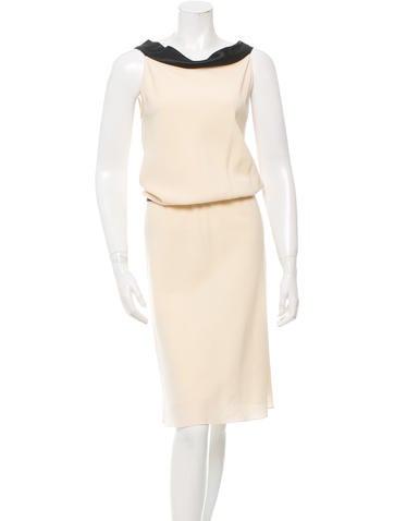 Narciso Rodriguez Wool & Silk Sheath Dress None
