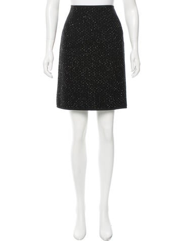 Narciso Rodriguez Wool Tweed Skirt w/ Tags None