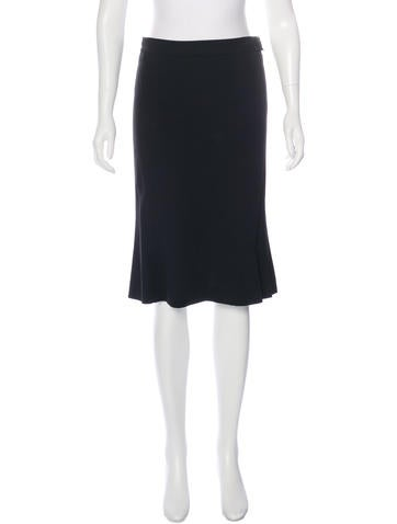Narciso Rodriguez Flounce Pencil Skirt None