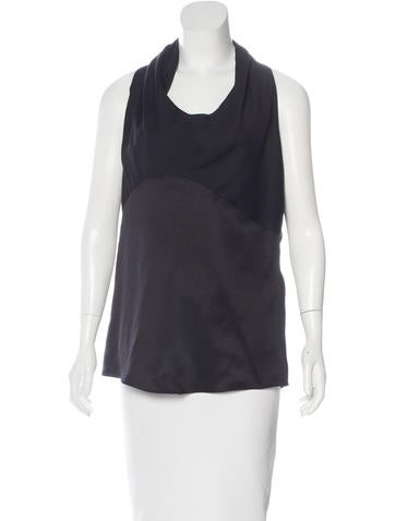 Narciso Rodriguez Silk & Wool Top None