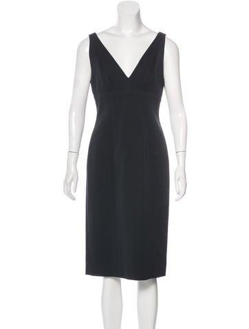 Narciso Rodriguez Virgin Wool Sleeveless Dress None