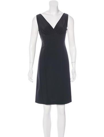Narciso Rodriguez Virgin Wool Mini Dress None