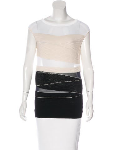 Narciso Rodriguez Colorblock Wool Top None