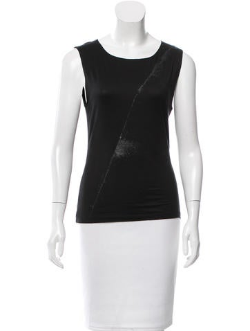 Narciso Rodriguez Silk Sleeveless Top None