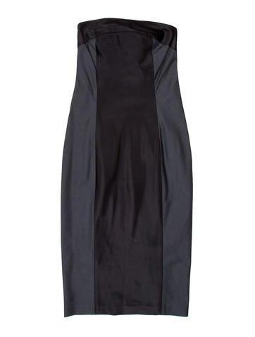 Narciso Rodriguez Colorblock Strapless Dress None
