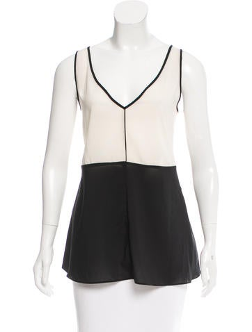 Narciso Rodriguez V-Neck Sleeveless Top None