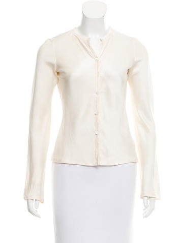 Narciso Rodriguez Long Sleeve Button-Up Top None