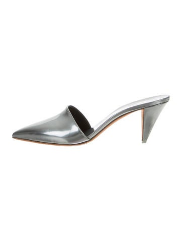 Narciso Rodriguez Metallic Pointed-Toe Mules None