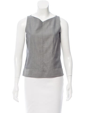 Narciso Rodriguez Sleeveless Virgin Wool-Blend Top None