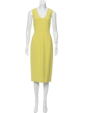 Narciso Rodriguez Sleeveless Wool Dress None