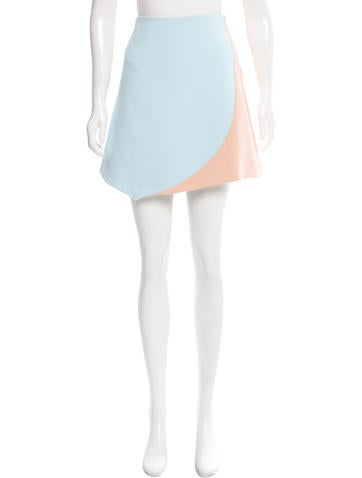 Narciso Rodriguez Colorblock A-Line Skirt None