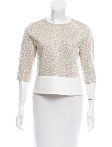 Narciso Rodriguez Printed Scoop Neck Top None