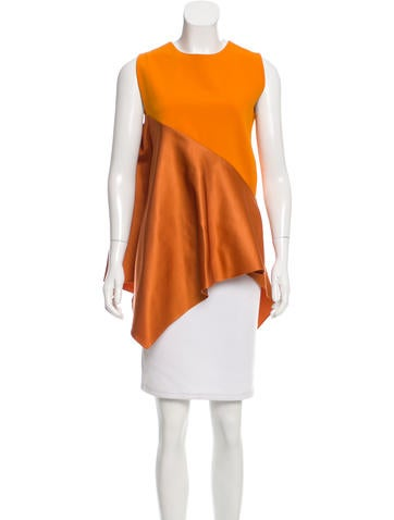 Narciso Rodriguez Colorblock Asymmetrical Top None