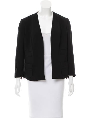 Narciso Rodriguez Woven Collarless Jacket w/ Tags None