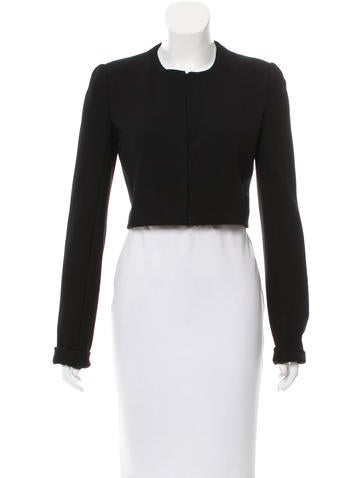 Narciso Rodriguez Collarless Cropped Jacket w/ Tags None