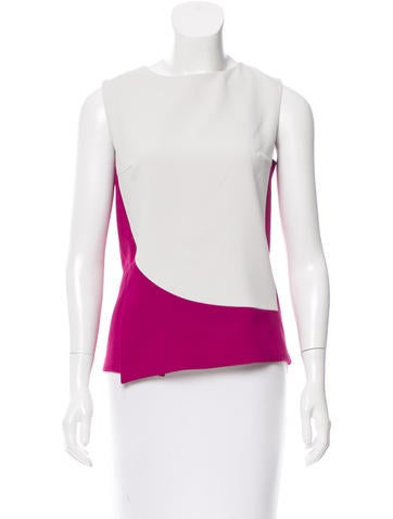 Narciso Rodriguez Sleeveless Colorblock Blouse None