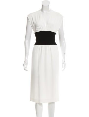 Narciso Rodriguez V-Neck Midi Dress None