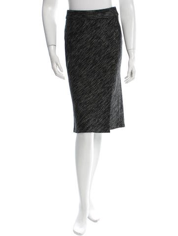 Narciso Rodriguez Wool Tweed Skirt None