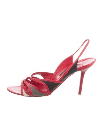 Narciso Rodriguez Leather Slingback Sandals None