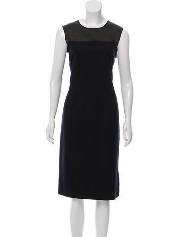 Narciso Rodriguez Wool Pinstripe Dress None
