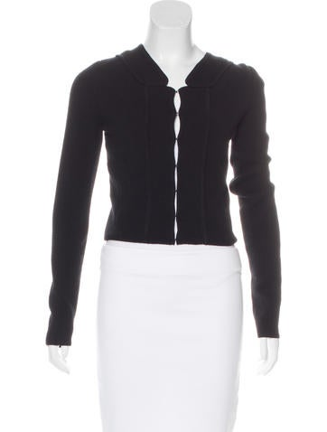 Narciso Rodriguez Cashmere Rib Knit Cardigan w/ Tags None