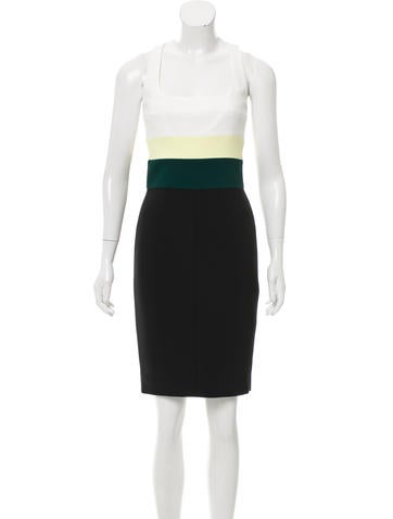 Narciso Rodriguez Sleeveless Colorblock Dress w/ Tags None