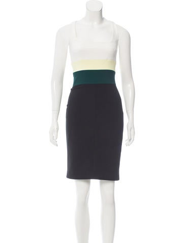 Narciso Rodriguez Colorblock Racerback Dress None