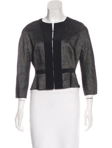 Narciso Rodriguez Silk-Accented Lightweight Jacket None