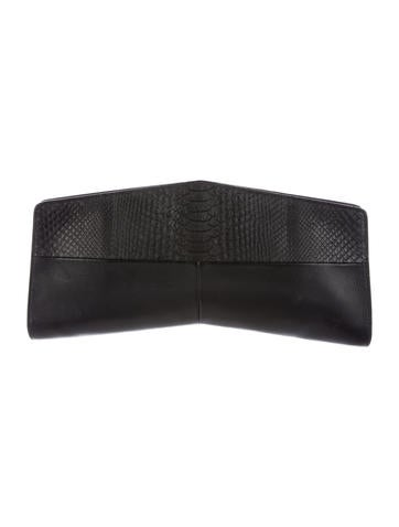 Narciso Rodriguez Python & Leather Clutch None