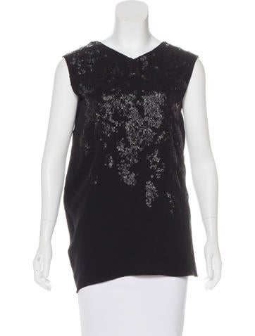 Narciso Rodriguez Silk Embellished Top None
