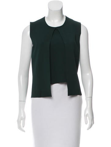 Narciso Rodriguez Sleeveless Panel Overlay Top None