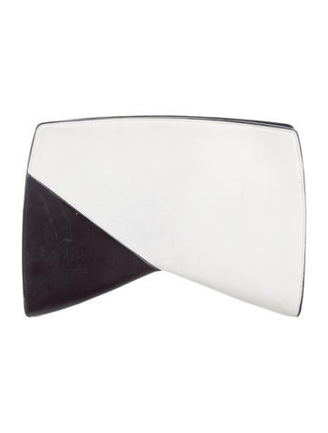Narciso Rodriguez Leather Boomerang Clutch None