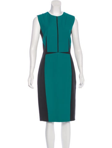 Narciso Rodriguez Colorblock Sleeveless Dress None