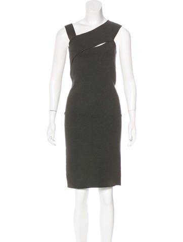 Narciso Rodriguez Silk Asymmetrical Dress None