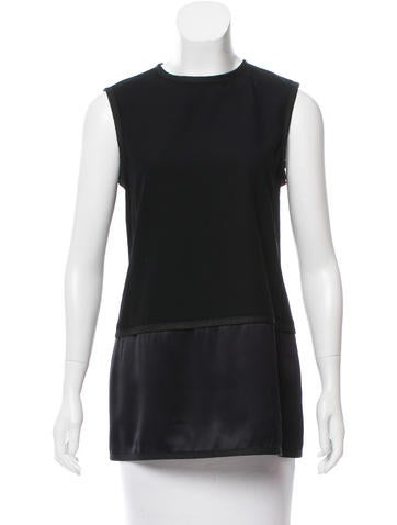 Narciso Rodriguez Virgin Wool Silk-Trimmed Top None