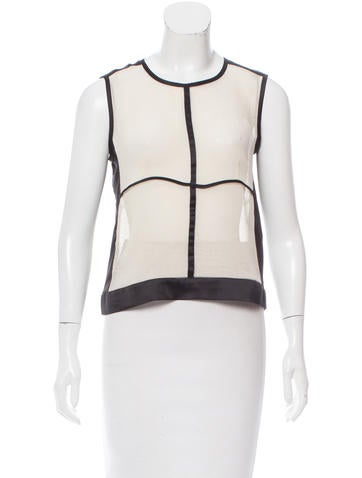 Narciso Rodriguez Textured Sleeveless Top None
