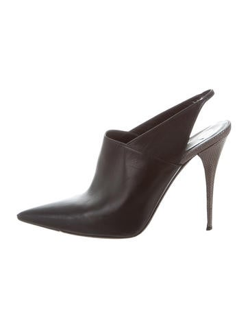 Narciso Rodriguez Leather Slingback Pumps None