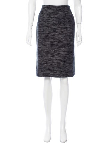 Narciso Rodriguez Tweed Wool Skirt None