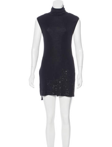 Narciso Rodriguez Embellished Wool Dress None