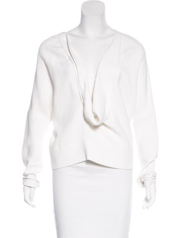 Narciso Rodriguez Long Sleeve Scoop Neck Top w/ Tags None