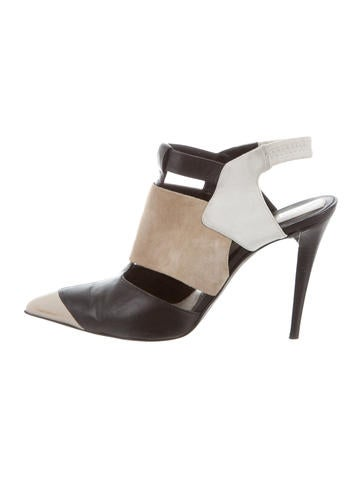Narciso Rodriguez Colorblock Pointed Toe Pumps None