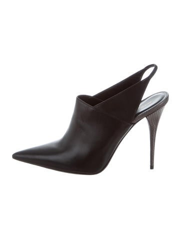 Narciso Rodriguez Pointed-Toe Slingback Booties None