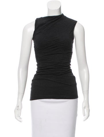 Narciso Rodriguez Ruched Wool Top None
