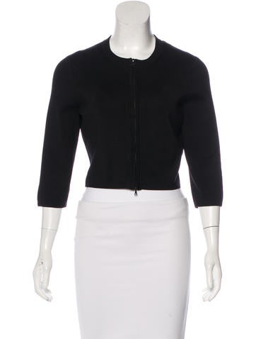 Narciso Rodriguez Cropped Zip-Up Cardigan None