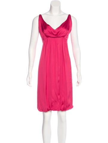 Narciso Rodriguez Sleeveless Satin Dress None