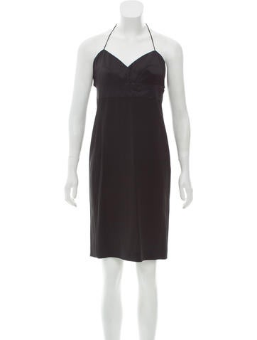 Narciso Rodriguez Knee-Length Wool Halter Dress None