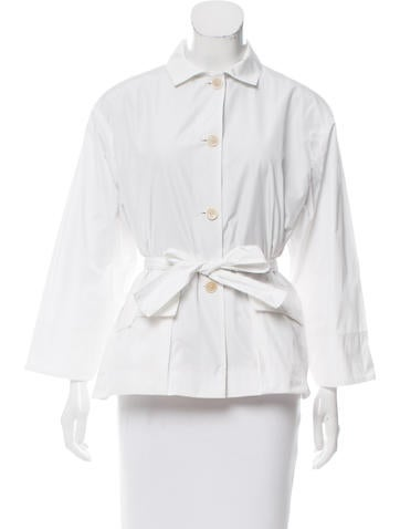 Narciso Rodriguez Tie-Accented Lightweight Jacket None