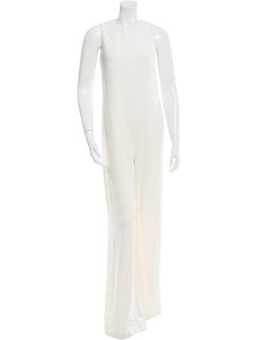 Narciso Rodriguez Sleeveless Wide-Leg Jumpsuit None