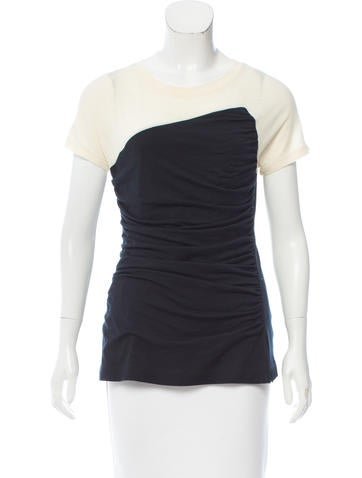 Narciso Rodriguez Wool Colorblock Top None